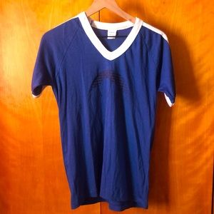 Vintage Tee   Janus 3 Stripe Sleeve Navy T-shirt